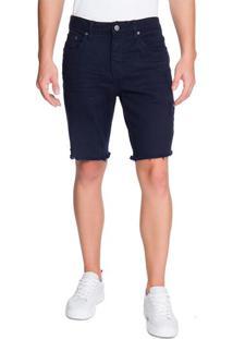 Bermuda Color Five Pockets - Azul Marinho - 36