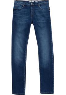 Calça John John Slim Luque Jeans Azul Masculina (Dark Jeans, 42)