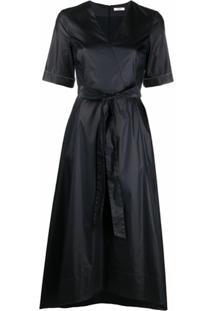 Peserico Vestido Reto Com Mangas Curtas - Azul