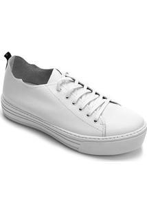 Tênis Couro Hardcorefootwear Feminino - Feminino-Branco