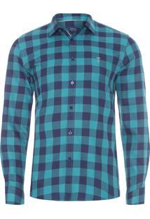 Camisa Masculina Slim - Verde