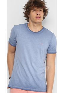 Camiseta Ellus Cotton Retrocolor Classic Masculina - Masculino-Azul Escuro