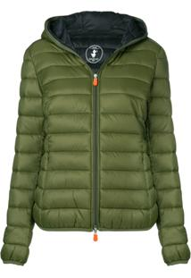 Save The Duck Padded Shell Jacket - Green