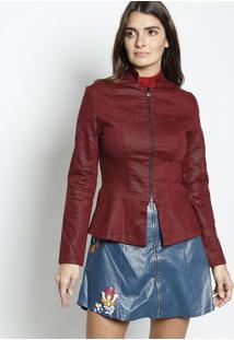 Jaqueta Com Recortes- Vermelha- Zincozinco