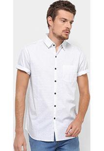 Camisa Manga Curta Jab Casual Estampada Mini Print Masculina - Masculino