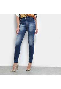 28bef7581e ... Calça Jeans Skinny Jezzian Jeans Estonada Feminina - Feminino-Azul