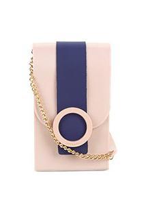 Bolsa Petite Jolie Mini Bag J-Lastic Phone Case Plus Feminina - Feminino-Rosa
