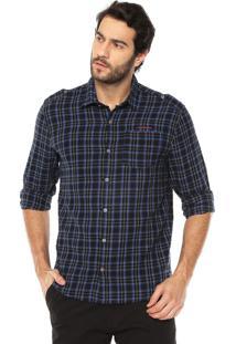 Camisa Calvin Klein Jeans Xadrez Azul