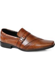 Sapato Social Masculino Fivela Em Couro Whisk - Masculino-Marrom Claro