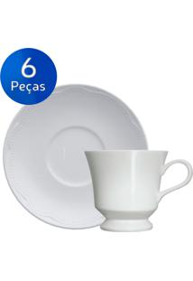 Conjunto Xícaras De Café 06 Peças Cottage - Germer - Branco