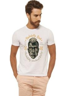 Camiseta Joss Estampada - Rockabilly - Masculina - Masculino-Branco