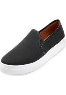 Slip On Lona Sense Way Gb19-1261 Preto - Kanui