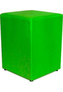 Puff Quadrado Em Courino-Phoenix Puff - Verde Limão