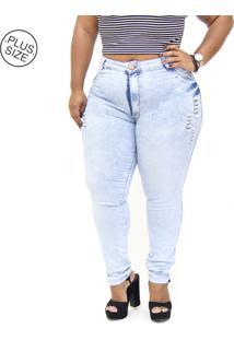 bad3ca578 ... Calça Jeans Helix Jeans Plus Size Skinny Michele Azul