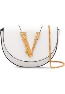 Versace Bolsa Transversal Virtus - Branco