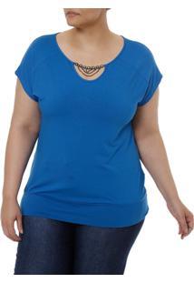 Blusa Regata Feminina - Feminino-Azul