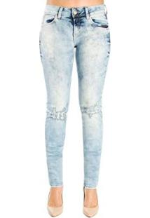 42991d73f Calça Jeans Destonada Leve Destroyedskinny Detalhe 3D Colcci - Feminino-Azul
