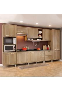 Cozinha Completa Com Tampo 17 Portas 5 Gavetas 5833 Argila - Multimóveis