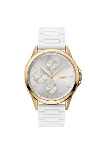 Relógio Lacoste Feminino Borracha Branca - 2001111