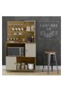 Aparador Cantinho Do Café Aconchego - Nature / Off White - Patrimar Móveis
