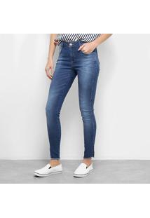 Calça Jeans Zune Skinny Básica Feminina - Feminino-Azul