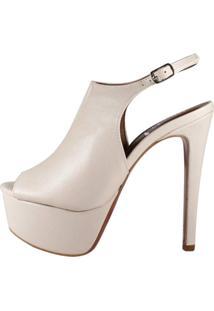 Sandália Chanel Salto Alto Week Shoes Creme