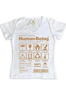 Camiseta Gola V Cool Tees Seres Humanos Feminina - Feminino