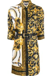 Versace Chemise Slim Barroca - Amarelo