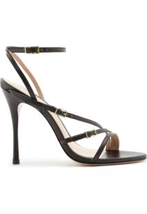 Sandália Strings Buckles Black | Schutz