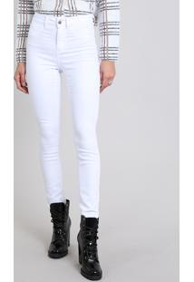 Calça Feminina Super Skinny Energy Jeans Branca