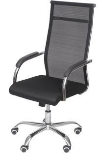 Cadeira Office Tesi Alta Rodízio- Preta- 106X54X48Cmor Design