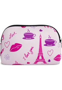 Necessaire Em Neoprene Tritengo - I Love Paris - Feminino