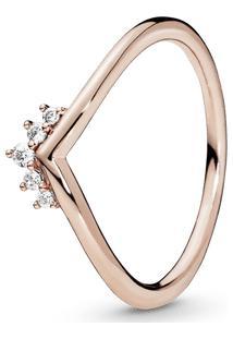 Anel Pandora Rose™ Chevron Coroa Brilhante