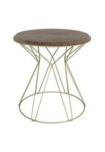 Mesa Lateral Cost Nogueira Base Gold 69Cm - 60267 60267
