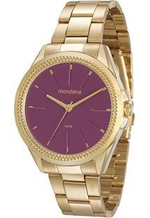 Relógio Mondaine Analógico 53538Lpmvde3 Feminino - Feminino-Dourado