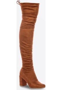 Bota Feminina Over The Knee Salto Alto Zatz