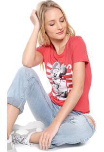 Blusa Cativa Disney Minnie Style Coral