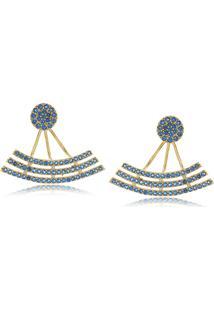 Brinco Viva Jolie Aquamarine Ear Jacket Pêndulo