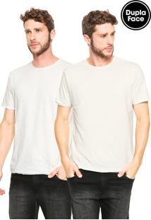 Camiseta Reserva Dupla Face Básica Bege