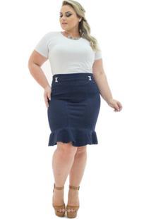 a469c9503 Saia E Mini Saia Jeans Plus Size feminina