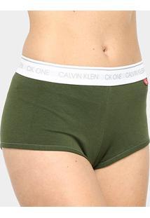 Calcinha Calvin Klein Boyshort Feminina - Feminino-Verde