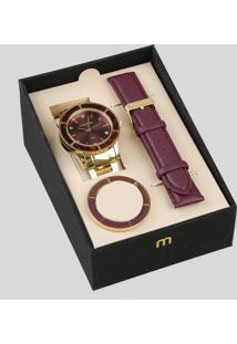 Relógio Analógico Mondaine Troca Pulseira Feminino - 99265Lpmvde1 Dourado - Único