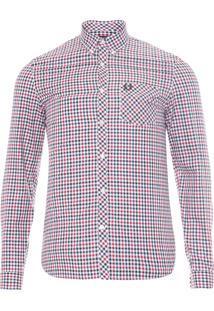 Camisa Masculina Color Gingham - Vermelho