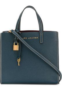 59c616577309a Farfetch. Bolsa Azul Feminina Kj Spj Marc Jacobs Couro Transversal ...