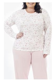 Pijama Longo Floral Laibel (15.011644) Plus Size