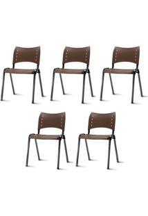 Kit 5 Cadeiras Iso Preta - 57934 - Sun House
