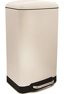 Lixeira De Aço Inox Modern Week Branca 30 Litros - 21826