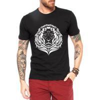7dd65a8cdf Camiseta Criativa Urbana Leão Tattoo - Masculino
