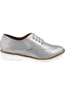 Oxford Feminino Milano Splash Prata 8850