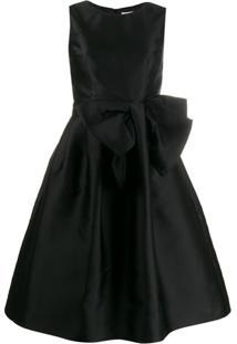 P.A.R.O.S.H. Vestido Com Detalhe De Laço - Preto